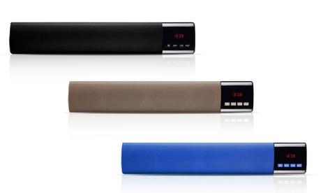 Image of 1 o 2 mini-soundbar Bluetooth con display disponibili in 5 colori e con o senza scheda Micro SD da 32GB