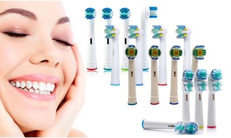 16 testine compatibili con spazzolino elettrico Oral-B disponibili in 4 modelli