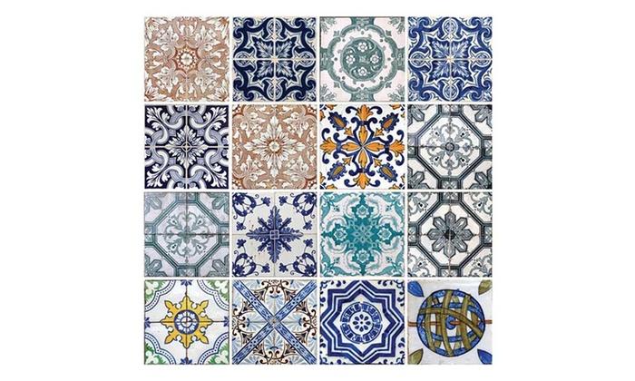 Pegatinas en forma de azulejos para paredes groupon goods - Pegatinas para azulejos ...