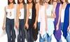 Isaac Liev Women's High-Low Hem Vest (3-Pack)