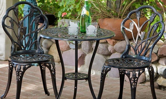 Up To 34 Off On New England Cast Bistro Set Groupon Goods