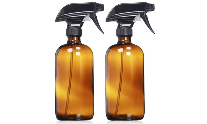 25931ee76dd6 Refillable Empty Amber Glass Spray Bottle (2-Pack)