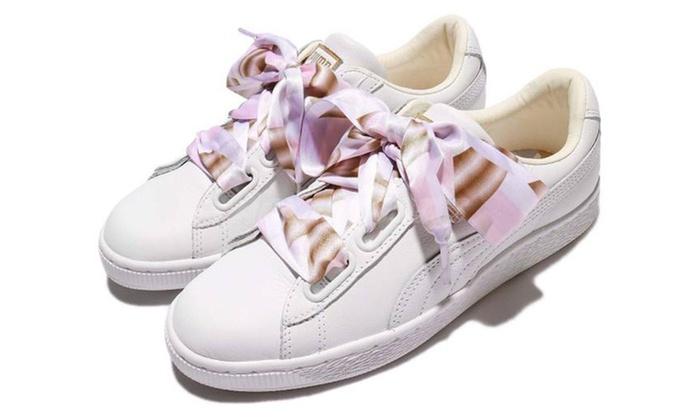 huge discount 79b8f 9e9da Puma Women's Basket Heart Sneakers
