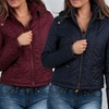 Women's Fur-Lined Quilted Jackets with Hoods