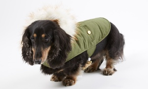 Wag & Bone Fur-Hooded Dog Jacket