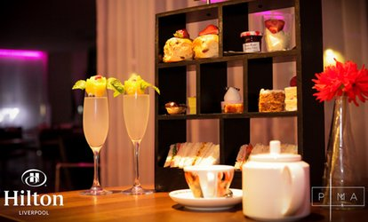 Afternoon Tea with Optional Bubbly for Two or Four at Hilton Liverpool HQ