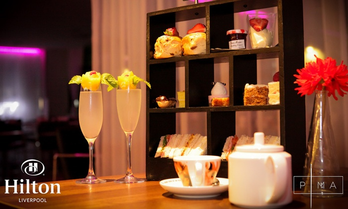 Hilton Liverpool  - Liverpool: Afternoon Tea with Optional Bubbly for Two or Four at Hilton Liverpool HQ