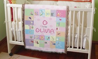 Personalized Alphabet Baby Blanket from GiftsForYouNow.com