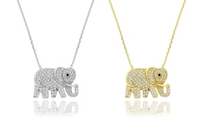 Elephant Necklace Made with Swarovski Elements by Elements of Love