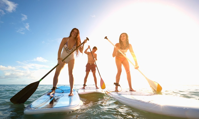 Liquid Leisure - Liquid lesiure: One-Hour Stand-Up Paddle Boarding for One or Two at Liquid Leisure (30% Off)