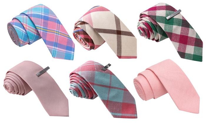 Men's Pink Skinny Ties
