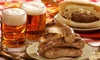 King's Biergarten and Restaurant - Pearland: Schnitzel and Sausage Sampler for Two, Four, or Six with Desserts at King's Biergarten (Up to 48% Off)
