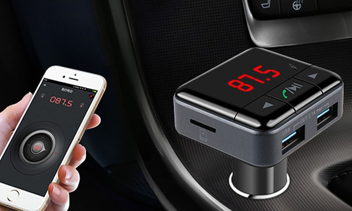 isunnao bluetooth 4 1 fm transmitter with handsfree car. Black Bedroom Furniture Sets. Home Design Ideas