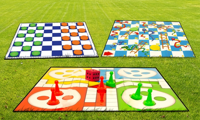 One or Three Giant Garden Game Sets for £5.98