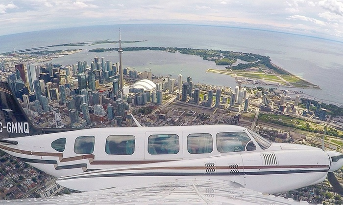 Greater Toronto Airways - Billy Bishop Airport - Executive FBO Terminal: C$149 for a 100km Aerial Tour of Toronto for Two with Champagne at Greater Toronto Airways (C$350 Value)