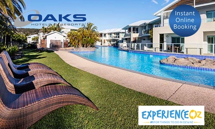 Port Stephens: 2-, 3- or 7-Night Getaway with Wine and Late Check-Out for Two or Four People at Oaks Pacific Blue