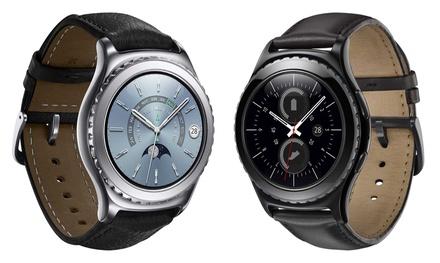 Smartwatch Samsung Gear S2 Classic, verkrijgbaar in 2 kleuren
