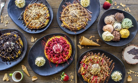 Choice of Waffle and Coffee Each for One ($12.50) or Two People ($25) at Little Red Wolf (Up to $48 Value)