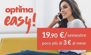 Optima Italia: Mobile ''Optima Easy'': 600 minuti, 100 SMS e 3 GB di Internet a poco più di 3 € al mese per 6 mesi (sconto 67%)