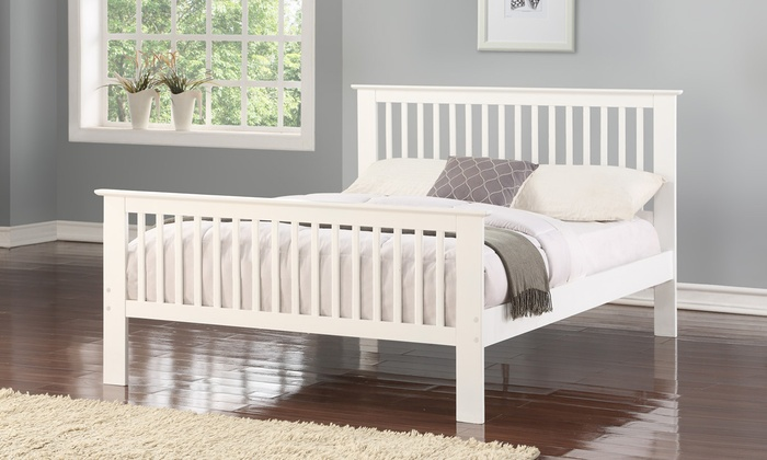 Pine Wood Bed Frame with Optional Mattress