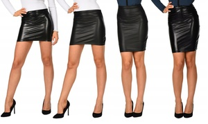 (Mode)  Jupes simili cuir marque Zannini -82% réduction