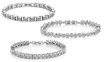 One, Two or Three Philip Jones Crystal Bracelets