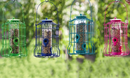 Colorful Squirrel Resistant Bird Feeders (Set of 4)
