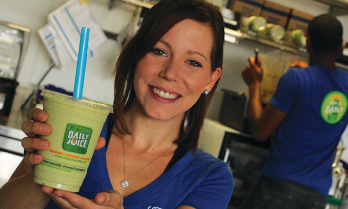 Daily Juice - Houston Location: $12 for $20 Toward Juice, Smoothies, and Salads at Daily Juice
