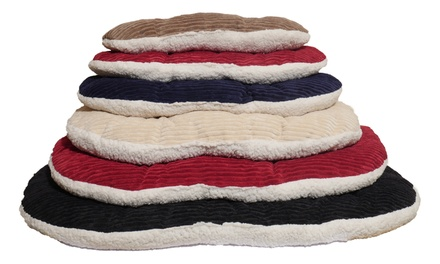 Jumbo Cord Fleece Reversible Comfort Oval Mattress from £5.99