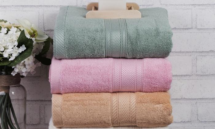 Natural Caring Riverside Bamboo Oversized Bath Towel Set 2 Piece