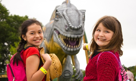 One Adult or Child Ticket or Family Pack of Four Tickets to Dinosaur World (Up to 57% Off)