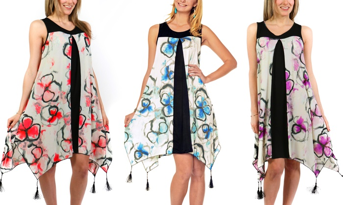 Women's Contemporary Handkerchief Hem Dress