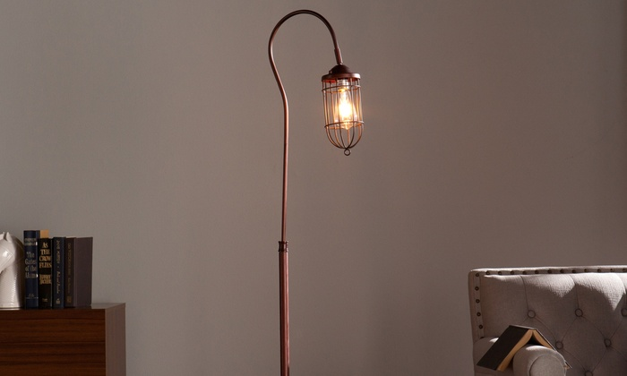 Industrial LED Bulb Floor Lamp | Groupon Goods