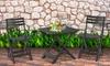 Mesa y 2 sillas plegables para jardín o terraza