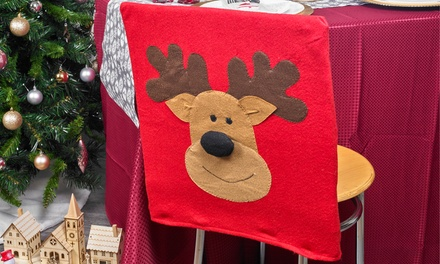 Christmas Reindeer Chair Covers