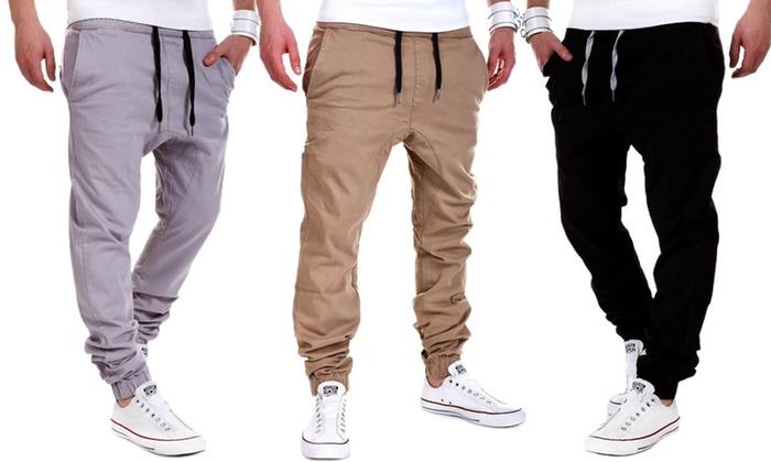 Bas de jogging homme loose House of Trends style chino coloris et taille au choix à 1990€ (67% de rduction)