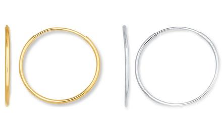 Endless Hoop Earrings in 14K Gold