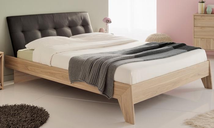 lit avec t te de lit matelass e groupon shopping. Black Bedroom Furniture Sets. Home Design Ideas