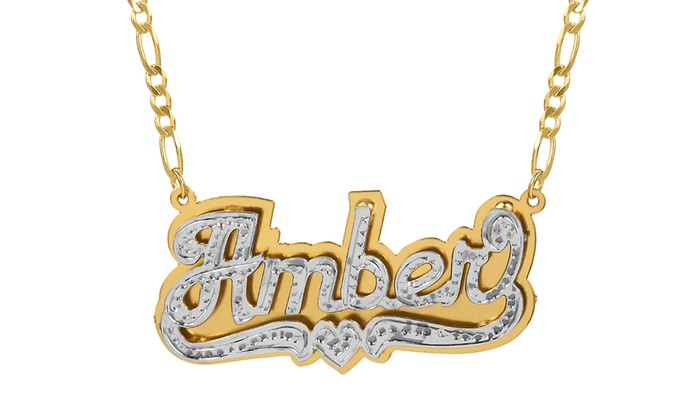 23eceef3b Up To 67% Off on Personalized Nameplate Necklace | Groupon Goods