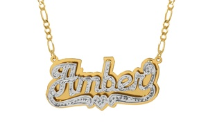 Up to 67% Off a Custom Nameplate Necklace from MonogramHub