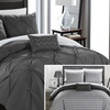 Nadette Reversible Pinch-Pleat and Chevron Comforter Set (3- or 4-Pc.)