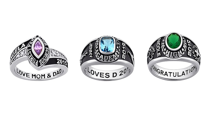 Limogés Jewelry: Ladies' Class Rings from Limogès Jewelry (42% Off). Three Options Available.