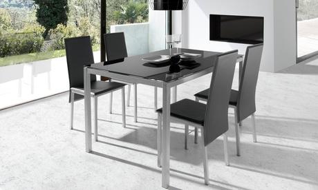 Mesa de comedor con 4 sillas Elodie