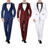 Groupon.com deals on Gino Vitale Men's Slim Fit Shawl Lapel Tuxedo 2-Piece