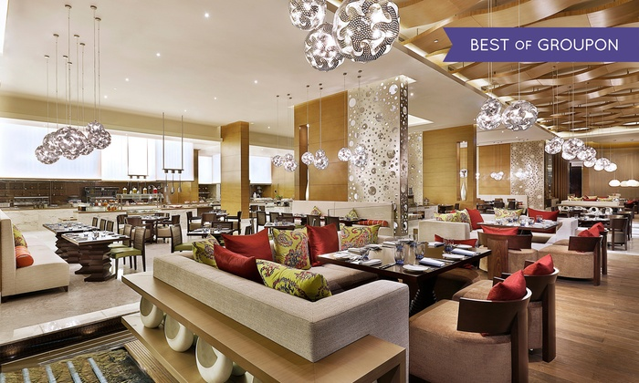 Lunch, Dinner, or International Dinner Buffet with Drinks for Up to Four at Khayal at Marriott Al Forsan (Up to 57% Off)
