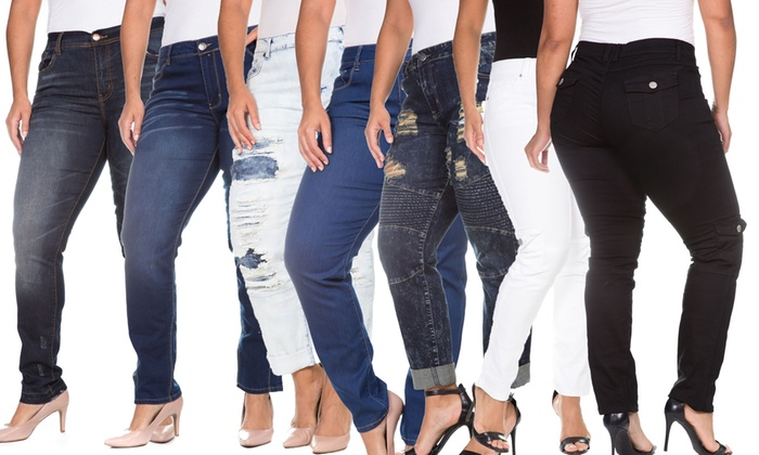 VIP Women's Assorted Plus Size Jeans
