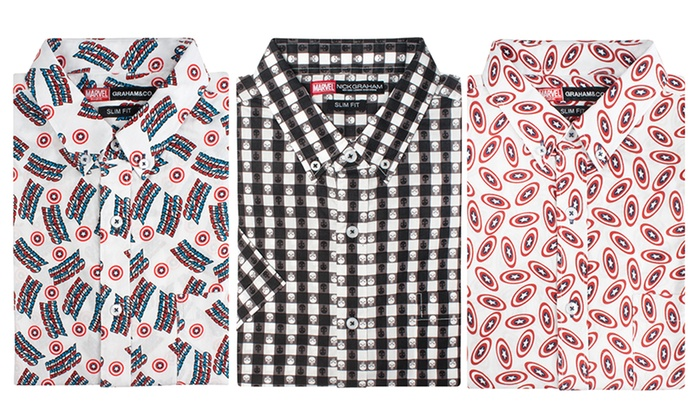 Nick Graham Men's Marvel-Themed Button-Down Shirts
