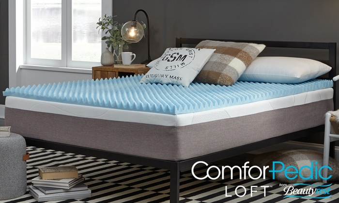 Up To 73 Off On Gel Memory Foam Mattress Topper Groupon