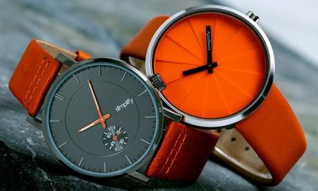 Relojes con correa de cuero genuino Simplify 'The 3600' y 'The 4000'