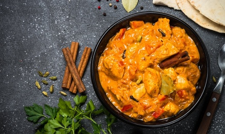 Choice of Curry Meal with Rice or Naan to Share and Optional Wine for Two or Four at Rishi's